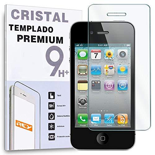 REY Protector de Pantalla para iPhone 4 / 4S Cristal Vidrio Templado...
