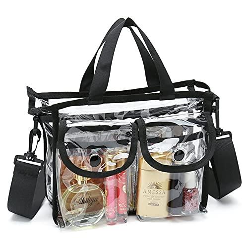 CTCABBG Bolso de mano de la playa, bolso grande de la cremallera del hombro, bolso de mano transparente del PVC del viaje, bolso cosmético del almacenamiento con el bolso del