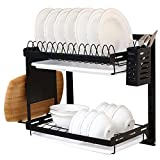 Eastore Life 2 Tier Dish Drying Rack with Drainboard,...