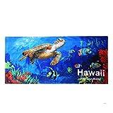 Palm Wave Hawaii Toalla de Playa 100% algodón 60x 30Azul Sealife Peces mar tiburón de Las Tortugas