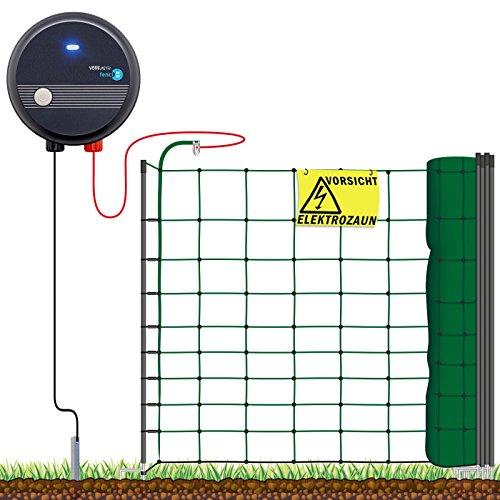 VOSS.farming Hundezaun Starterset Elektrozaun, anschlussfertiges Elektronetz für Hobbyzaun und Gartensicherung ideal für Einzäunungen in Ihrem Garten