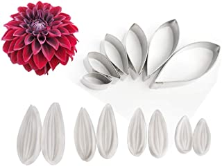 AK ART KITCHENWARE Floral Veining Molds and Fondant Cutters Gumpaste Dahlia Making Tools Set for Decorating Cakes