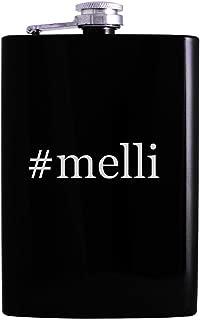 #melli - 8oz Hashtag Hip Alcohol Drinking Flask, Black