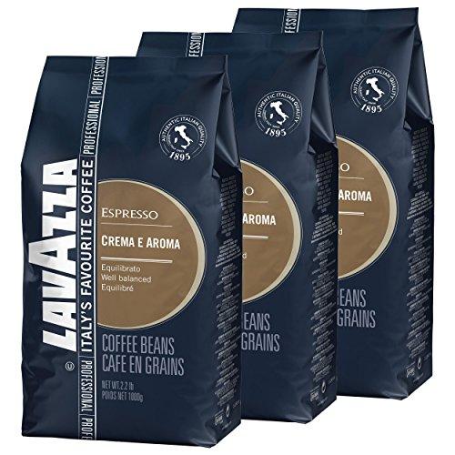 Lavazza Kaffee Creme e Aroma Blau, Espresso, Bohnenkaffee, Röstkaffee, Ganze Bohnen, 3 x 1000g