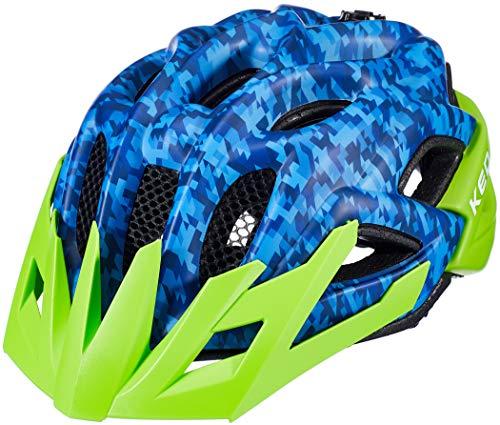 KED Status Helm Kinder Camouflage Blue/Green Kopfumfang M | 52-59cm 2020 Fahrradhelm