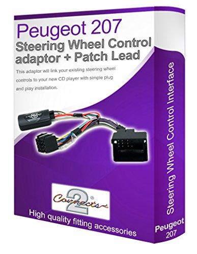 Peugeot 207Câble stéréo de voiture Adaptateur, Connectez votre Volant de commande au volant les boutons
