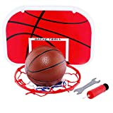 Basketball Hoop Stand Set,Adjustable Height Portable Children Sport Training Game Toy Set Indoor and Outdoor 1...