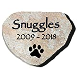 Pet Memorial Stone - Custom Engraved Natural Stone - Ships Free - Dog, Cat, Small Animal - Grave Marker, Headstone, Garden Marker, Loss of Pet Gift, Pet Remembrance Gift - Indoor, Outdoor - (Aspen)