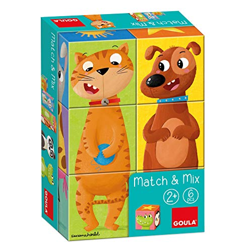 Goula- Match & Mix - Puzzle de Cubos apilables a partir de 2 años