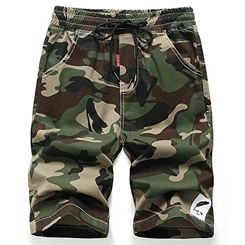 IDGREATIM Kinder Camouflage Camo Bedruckte Shorts Kurze Hosen Leichte Sommershorts für den Urlaub im Freien