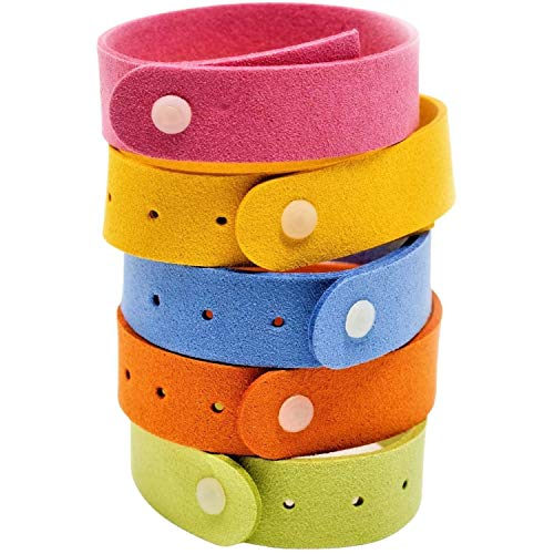 RiptGear Mosquito Bracelet for Adults (15 Pack) - Mosquito Bands for Kids and Travel - DEET Free Insect and Bug Bracelets Made with Natural Plant Based Ingredients