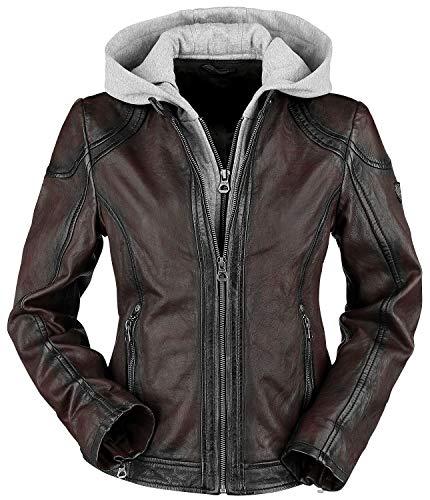 Gipsy Angy W18 LASANV Frauen Lederjacke dunkelrot 5XL 100% Leder Basics, Biker