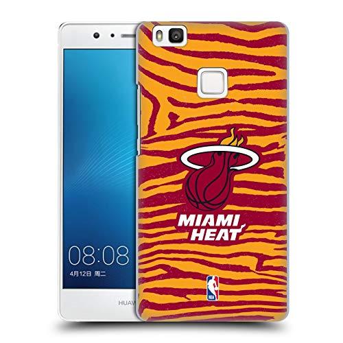 Oficial NBA Estampado Animal de Cebra Miami Heat 3 Carcasa rígida Compatible con Huawei P9 Lite / G9 Lite