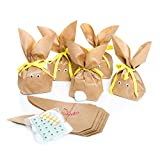 10 Set Osternest Osterhase Tüte Verpackung Ostern HASENTÜTEN Osterhäschen braun