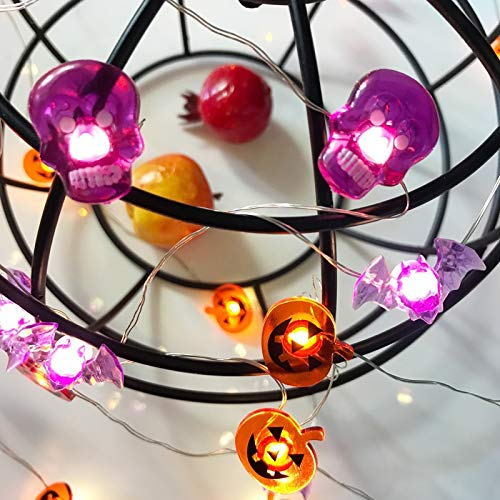 lpf Piece LED-9 Innen-Modellierung Halloween Kürbis Lichterketten Fledermaus