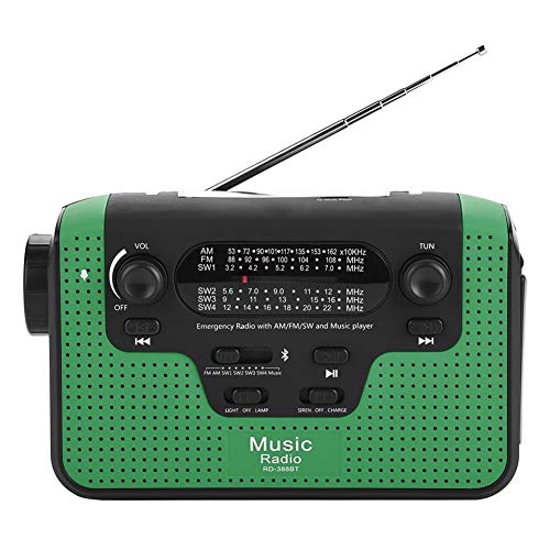 VBESTLIFE Mini-Radio, Pocket Radio Tragbare Radio mit Bluetooth, FM-Radio mit 16G TF-Karte unterstützt FM/AM / SW1 / SW2 / SW3 / SW4 für Outdoor-Aktivitäten.(Grün)
