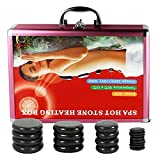 Hot Stones Massage Set, 20 Pcs Basalt Hot Stones with Heater Kit, for Professional or Home spa, Relaxing, Healing, Pain Relief