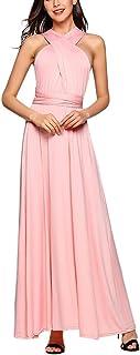 Vestido de Fiesta de Mujer Sin Mangas de Boho Maxi Largo Vestidos de Cóctel Piso-Longitud Multi-Way Dresses