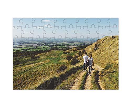 Puzzles personalizados 70 piezas con foto y texto | Máxima calidad de impresión | Diferentes tamaños disponibles (9 a 2000 piezas) | Tamaño: 70 piezas (30 x 21 cm) - Sin caja personalizada