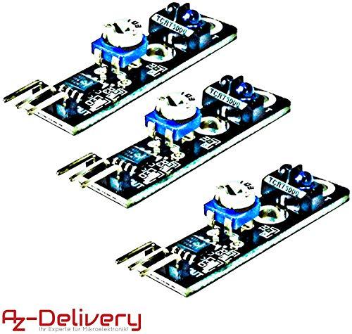 AZDelivery 3 x KY-033 Linien Folger Line Tracking Sensor Modul TCRT5000 für Arduino