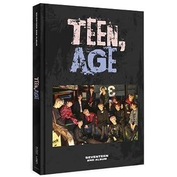 SEVENTEEN 2nd Album TEEN AGE RS ver CD+120p PhotoBook+Lyrics Paper+PhotoCard+Portrait Desktop Stand+Folding Poster  ON PACK +Name Sticker Sealed