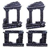 Balacoo 4 Piezas de Decoración de Acuario Columnas Romanas Modelo de Pilar Romano Tanque de Resina Roca Decoración de Paisajismo para La Decoración de Acuario Tanque de Peces