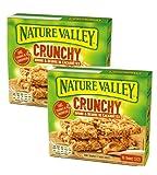 Nature Valley Barras de cereales crujientes, copos de avena integral y mantequilla de maní sin colorantes ni conservantes sin lactosa, aptas para vegetarianos, 2 x 210 gramos (20 barras)