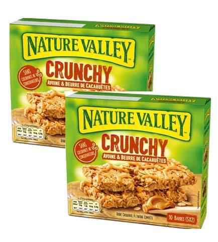 Nature Valley Barrette Cereali Croccanti Fiocchi d'Avena Integrale e Burro di Arachidi Senza...