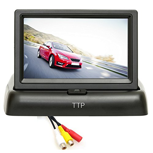 "4.3"" Backup Camera Monitor - Best for Rear View and Front View car Cameras by TOPTIERPRO"