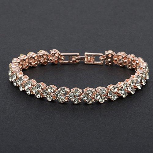 Shavanpark New Bracelet Fashion Roman Style Women Crystal Rhinestone Jewelry Bracelets Gifts for Family Friend
