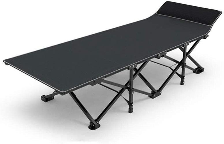 Lit de Camping Pliant - Ultra léger et Confortable avec Oreiller, Lit Simple Pliant de Design Robuste pouvant accueillir des Adultes jusqu'à 400 LB