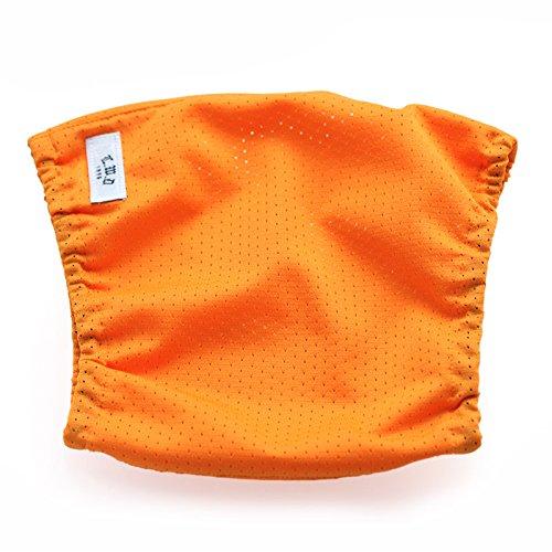 【犬と生活】高撥水雨の日スヌード 《レイン 濡れ防止 シンプル》 (L, オレンジ)