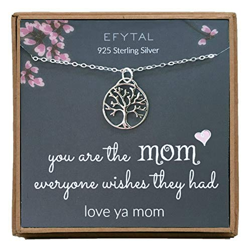 EFYTAL Mom Gifts, 925 Sterling Silver Open Tree of Life...
