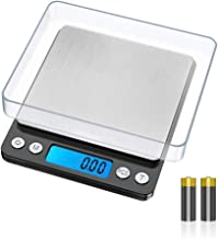 GRIFEMA GA2003 Balance Numérique de Précision, Balance Cuisine, écran LCD rétro-éclairé, Balance électronique en acier ino...