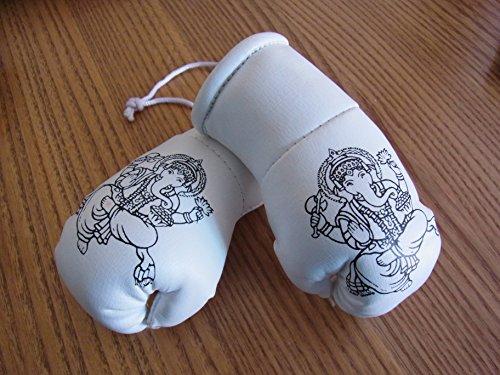 GB FALCONRY Thailand Elephant Buddha Mini-Boxhandschuhe (Ideal für die Rückspiegel)