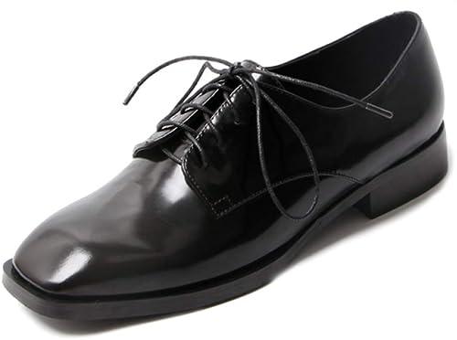 PLNXDM Bottines Et Bottines Pour Pour Femmes Chaussures à Lacets En Cuir De Qualité Pour Femmes Faites De Cuir Chaussures Oxford Richelieu