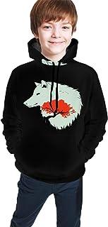 Wolf9 Kids/Teen Girls' Boys' Hoodie,3D Print Pullover Sweatshirts