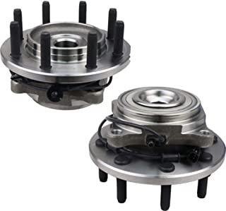 Bodeman - Pair 2 Front Wheel Hub & Bearing Assembly for 2012-2014 Ram 2500 3500/2012 Ram 1500 - RWD ONLY