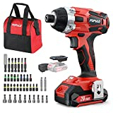 Impact Driver Kit, 1770 in-lbs 20V Max Lithium Ion Cordless 1/4' Hex...