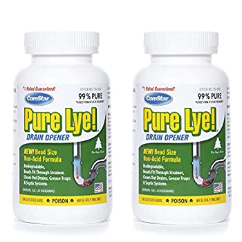 ComStar 024924305003 Pure Lye Bead Drain Opener 1 lb White  Two Pack
