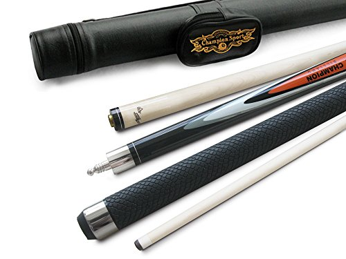 of raid pool cues dec 2021 theres one clear winner Champion Spider Gator or Snake Skin Billiards Maple Cue 18-21 oz, White or Black Pool case, Glove