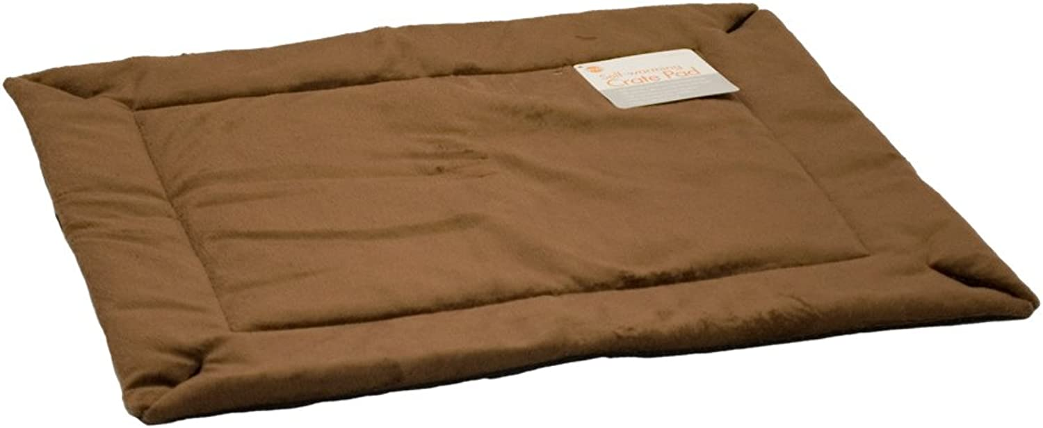 K&H Manufacturing SelfWarming Crate Pad Mocha 37Inch by 54Inch