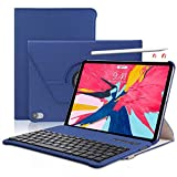 Keyboard Case iPad AIR4/Pro 11 inch 2021 (A1980, A2013, A1934) [Support Apple Pencil Charging] - 360 Rotating - Detachable Keyboard - PU Leather Stand - iPad Pro 11 Keyboard Case, (Blue, 11 inch)