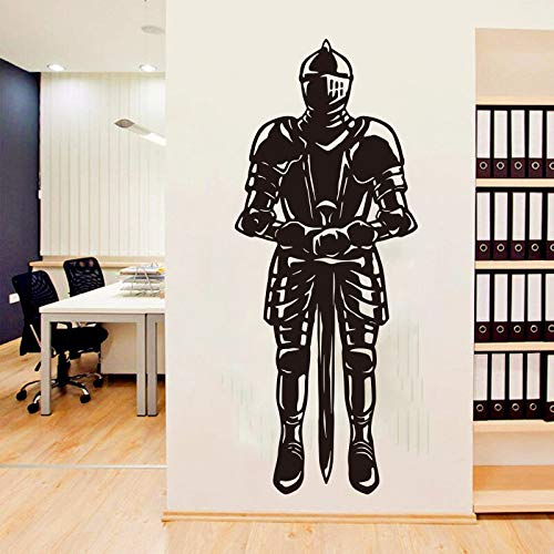 wopiaol Römischer Krieger Home Decor Wandaufkleber Mann trägt Rüstung und Schwert Für Kinderzimmer Wohnzimmer Vinyl Wanddekoration