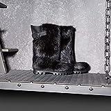 Black Long Nutria Fur Boots for Men, Mukluks, Viking Boots, Yeti Boots, Furry Snow Boots, Winter Boots, Eskimo Mukluk Boots LITVIN