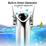YTBLF Mini USB Wearable Air Purifier, Hang Neck Negative Ion Necklace Oxygen Bar, Portable Air Purifier for PM2.5 Dust Pollen Mite Smoke Ozone
