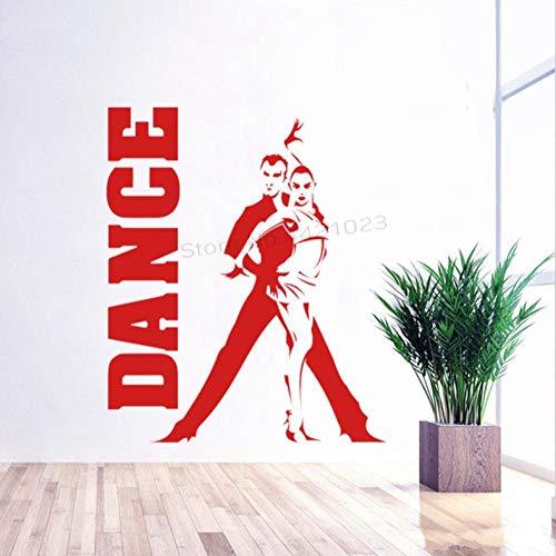 Wandaufkleber 57X68cm Dance Center Design Mann Und Frau Poster Art Deco Bewegliche Wanddekoration Büro Diy Pvc Schlafzimmer Familie Wasserdicht Selbstklebende Wohnzimmer Fenster