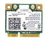 Siren 7260HMW Laptop Network Card,7260AC AC 7260 Half Mini PCI-E Card Laptop WiFi Card Upgrade 2.4GHz 5GHz WiFi Band Bluetooth