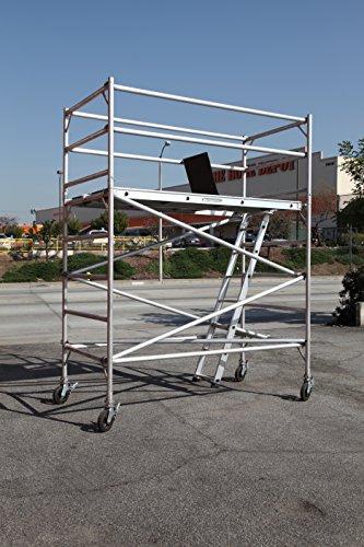 "8 Feet Deck High Industrial Heavy Duty 2""Aluminum Utility Scaffolding Rolling Tower"