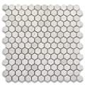 Moleanos Beige Limestone Hexagon Mosaic Tile 1 inch Honed